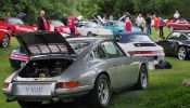 Early-car-section-with-the-1972-911ST-Tribute-of-Gary-Turner-in-the-foreground