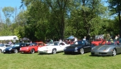 16 Porsches at Marques DElegance on Sunday Aug 23 2015