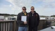 Andy Wright recieved 25th Anniversary Certificate from Dave Osborne