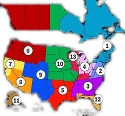 PCA Region Map