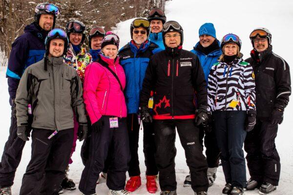 From left to right, front row: Darren Slemko, Hazel de Burgh, Helmut Brosz, Martin Tekela, Gabi Armstrong, Dave Armstrong Back row: David & Susan Rosebush, Tom Tutsch, Don Lewtas, Allan Mestel