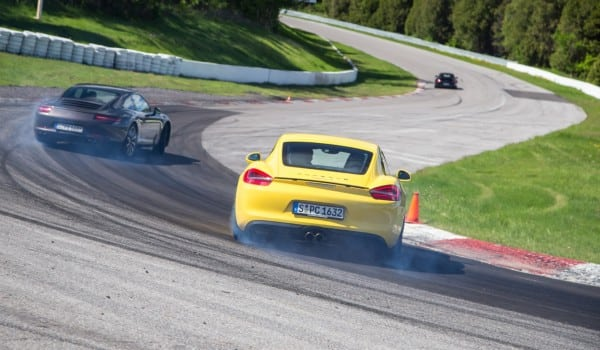 The PWRS instructors getting sideways at corner five.  We did not get to try this