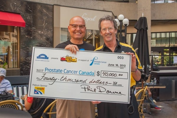 Rocco Rossi, CEO, Prostate Cancer Canada, and Yorkville Exotic Car Show Founder, Phil Downe Photo by Dove Rose