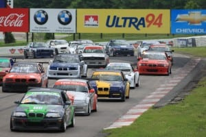 The BMW club race provided a full grid.