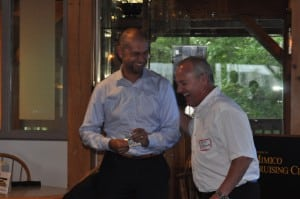Stephan Griese and Brad Usherwood share a laugh.