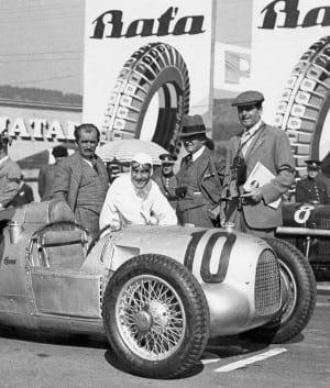 Ferdinand Porsche with Hans Stuck in 1934, Copyright Porsche