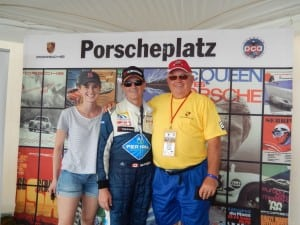 8. Left to right Eden McKaigue [daughter], Shaun McKaigue, Walter Murray TUDOR Porscheplatz July 2015