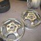 2 chrome Porsche wheels