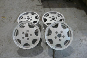 D90 wheels powder coated